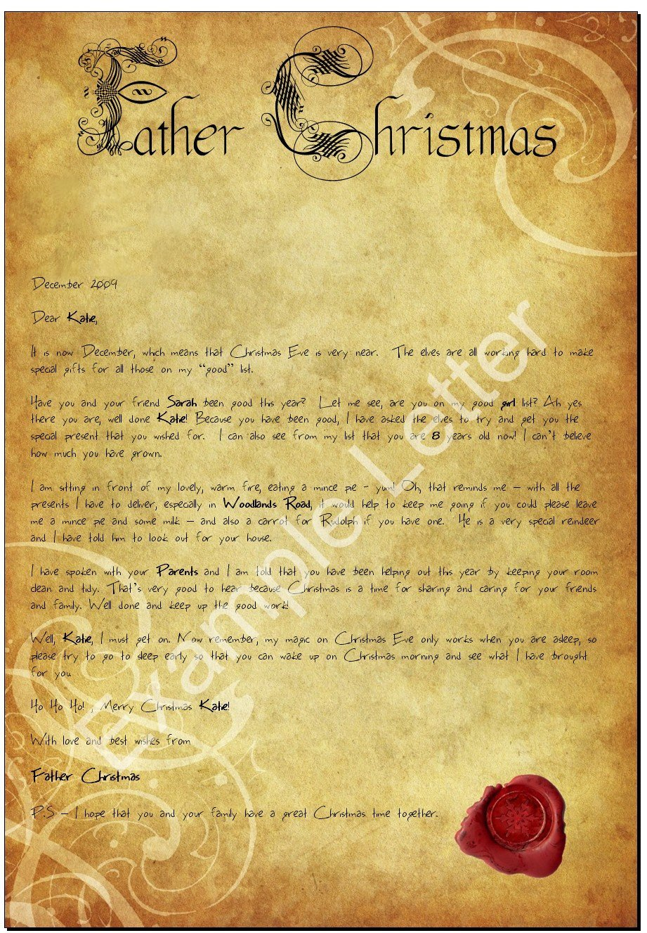 'Father Christmas'. This letter is also available from 'Santa Claus ...